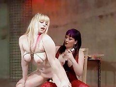 Femdom Lesbian Strapon And Spanking