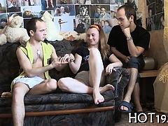 Boy jerks staring at sex