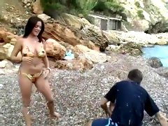 Brunette Bikini Babe Beatdown