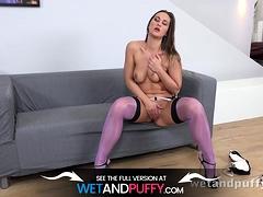 Wetandpuffy - Sensuous Stockings - Masturbation