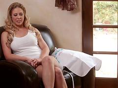 Seductive pornstar Cherie Deville eats a pussy behind the scenes