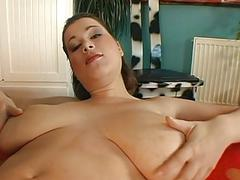 Babe is hungry for ramrod after dildo play