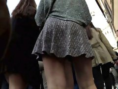 There's a party going on and one gal gives a great upskirt