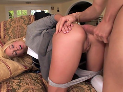 Amazing sex with the beautiful blonde babe Jada Stevens