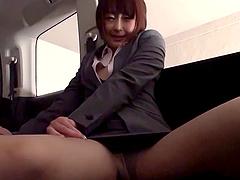 Nice ass Asian damsel throbbed hardcore in car pov shoot