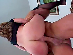 Brunette chick enjoys and and cunt fucking after sucking cock