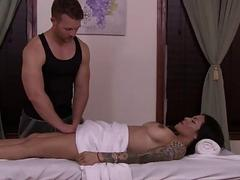 Latina Tgirl Foxxy is seduced by massuer