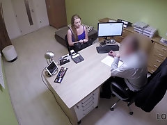 Teen fucks at work with her boss