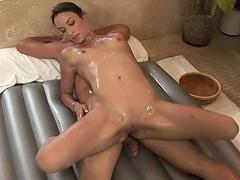 Amber Rayne Gives A Guy Hot Massage