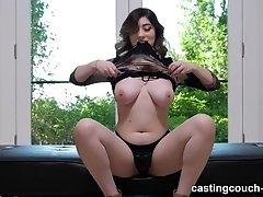 Amilia gives a tit job and gets a cum shot from a big black cock