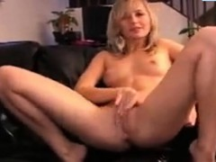 Beautiful Blonde Fingers Her Tight Asshole