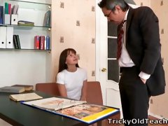 Nina has had her tits licked and pleasured by her teacher