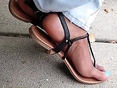 Hot amateur european foot and pantyhose fetish