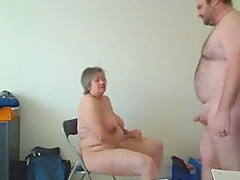 Chubby granny blows and enjoys rear banging in hardcore homemade scene