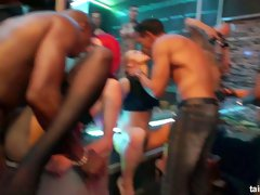 Hungarian hottie Amirah Adara goes wild at the hardcore Tainster party