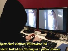 Public shower nude flashing