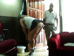 Voyeur clip of a mature couple