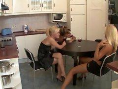 Horny pornstars Gina B and Peaches Johnson in crazy blowjob, masturbation sex video
