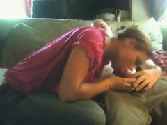 Blowjob then kiss Faustina from 1fuckdatecom