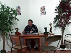 Anal casting couch of a greedy french blonde