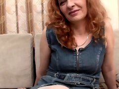 Redheaded mature gets fucked and rewarded with a facial