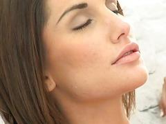 Beauty thrills stud with moist blowjob riding