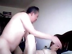 Mature chinese housewife gets fucked after a tasty dessert