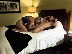 Busty blonde in high heels gets drilled deep on hidden cam