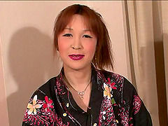 Erotic anal play with a pretty Japanese tranny in a kimono