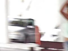 Fucking a hot teen stranded at bus stop