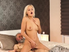 Old man punish first time Like under hypnosis she opened