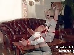 Tight bondage fun with two lesbians and their BDSM master