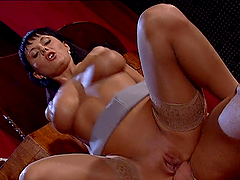 Anal Sex in Threesome with Carmen White and Michelle Wild Brunette MILFs
