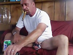 Dad smoking a well deserved cigar after fucking mom