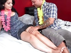 Busty Pakistani bitch Nadia Ali's pussy receives a hot creampie