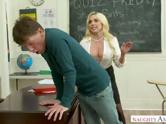 Graduate student fucks jaw dropping young teacher Christie Stevens