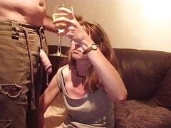 Horny pee drinking amateur