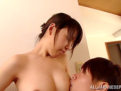 Eri Hosaka is fingered before being fucked silly by a guy