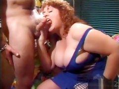 Redhead mature Bbw Jenny joyce fucks and sucks younger guy