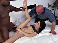 BBC stuffs her fuck holes as she moans