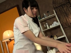 Seductive Japanese masseuse knows how to treat a cock