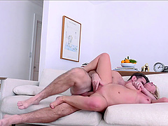 Classy milf with nice ass bending over getting ravished doggystyle