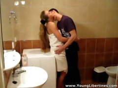 Young Libertines - Passionate fuck in a bathroom