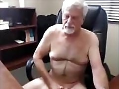 white haired grandpa cumming