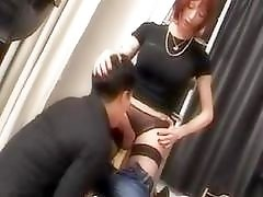 Big cock tranny riding a hard pecker