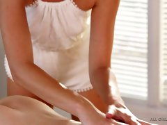 Hot babe Casey Calvert is enjoying some erotic and sensual massage session