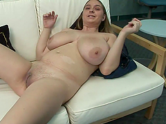Busty Blonde Plays With Big Tits And Pussy