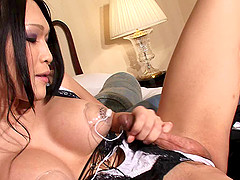 Breathtaking shemale with large tits and her kinky adventure