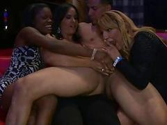 Chicks couldnt resist strippers sexy cocks