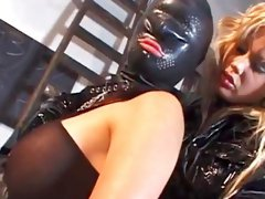 Awesome babes in leather fucks in their asses